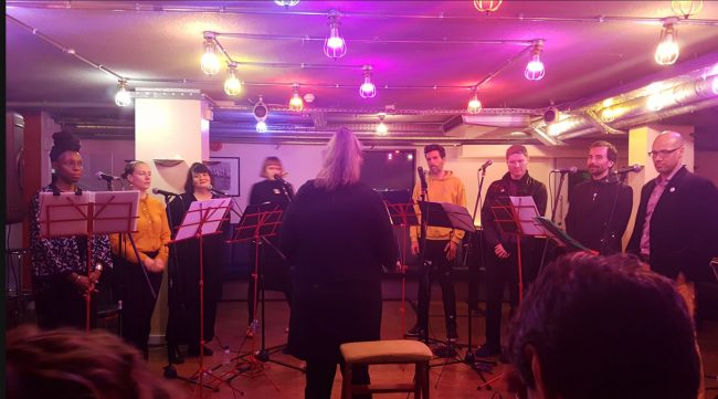 The Improvisers' Choir at Club Inegales, March 2019